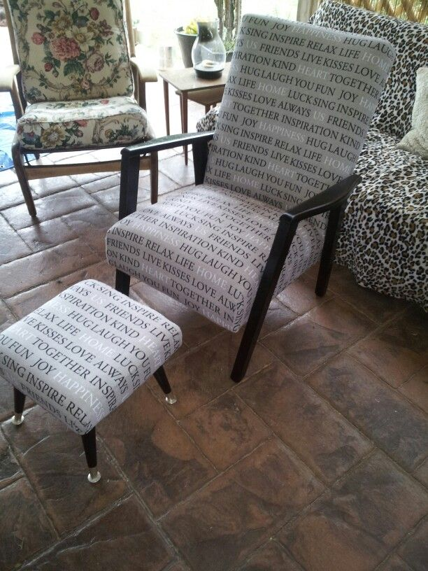 Inspiratoinal chair and footstool