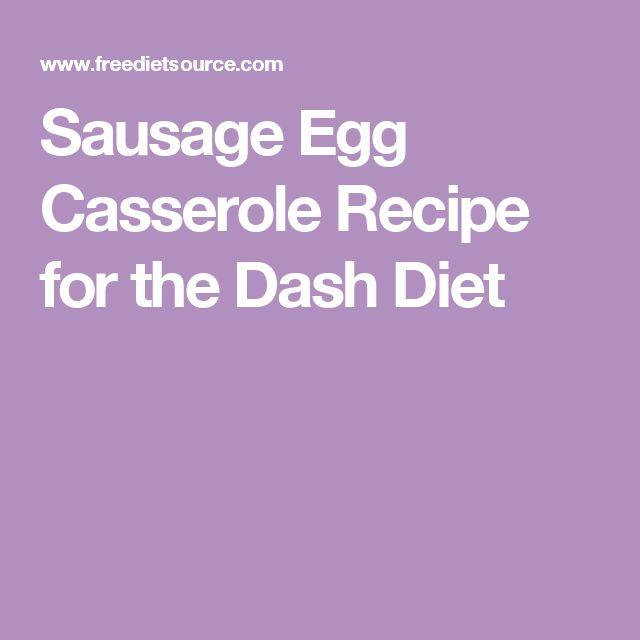 Sausage Egg Casserole Recipe for the Dash Diet