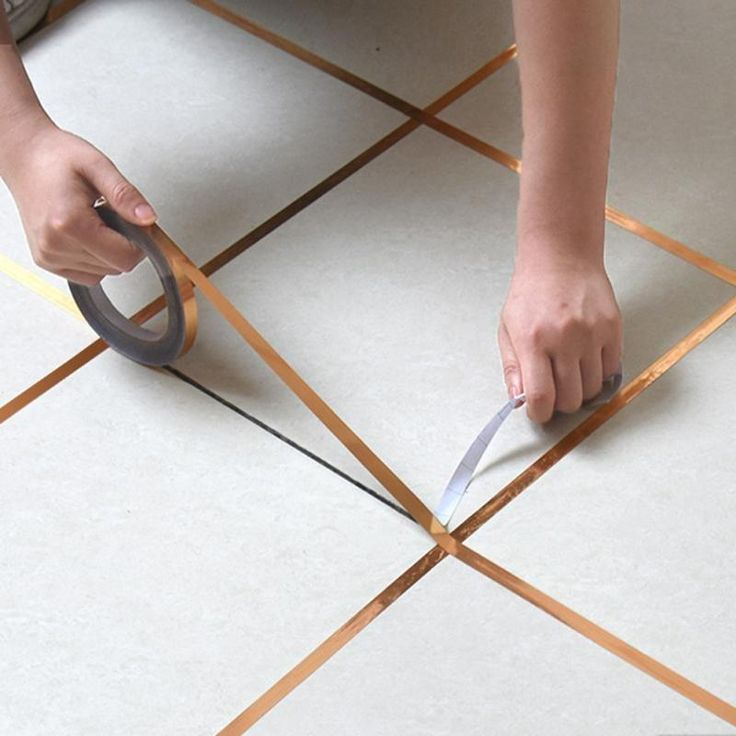 Gold silver seam for walls floor tiles self adhesive