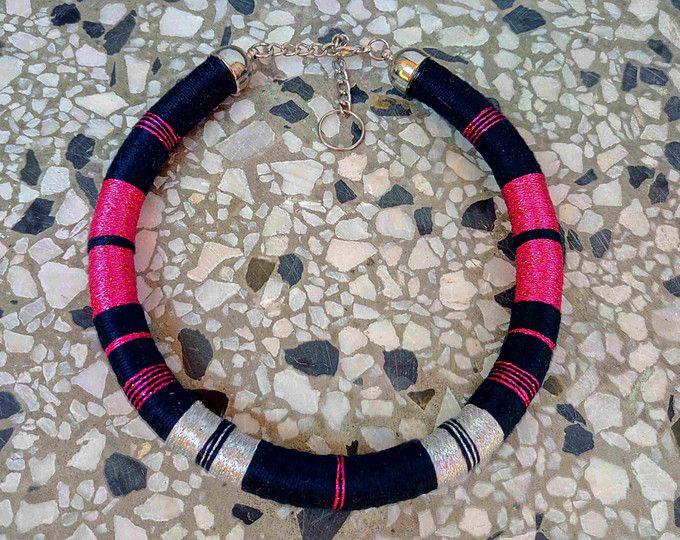 Collana africana collana filo collana dichiarazione collana corda collana tribale collana etnica Gioielli africani womens regalo regalo di San Valentino