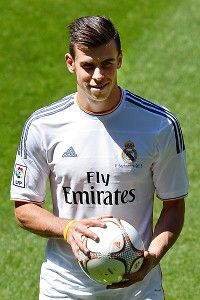 Bale- I love the Read Madrid jersey!