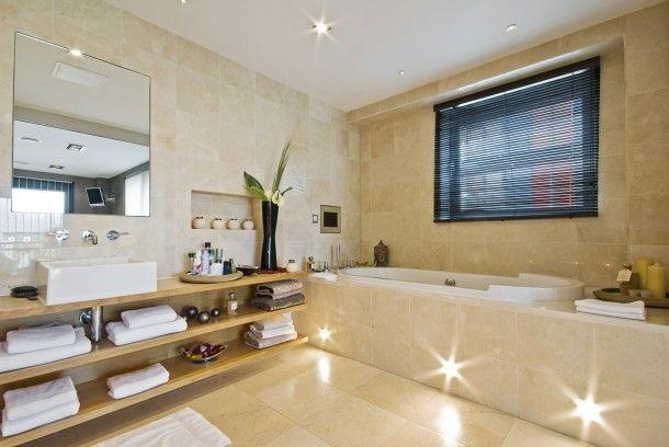 Minimál pasztell fürdőszoba