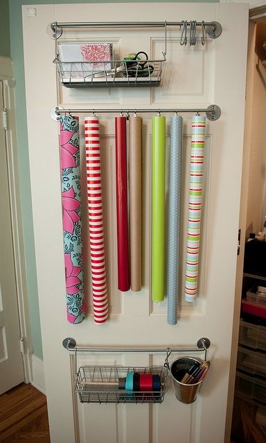 I don't think I have enough doors in my house for all my wrapping paper.
