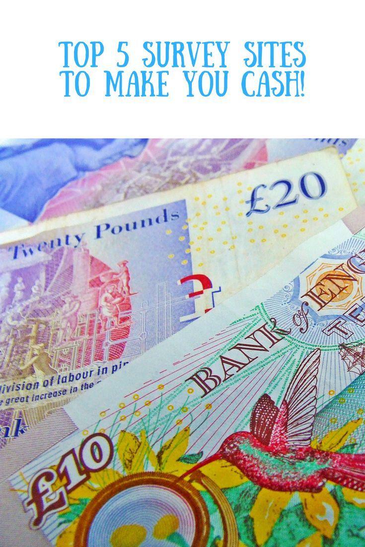 Top 5 survey websites to help you make cash online - for free.