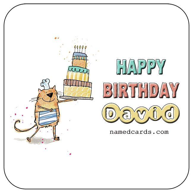 Happy Birthday David Card For Facebook Namedcards Com David