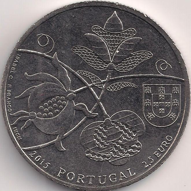 Wertseite: Münze-Europa-Südeuropa-Portugal-Euro-2.50-2015-Castelo Branco