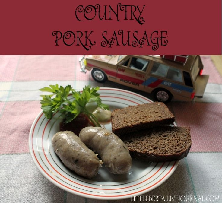 Country Pork Sausage | by Little Berta #recipe #sausage #dinner