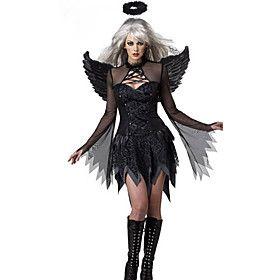 Costume di Halloween per Fallen Angel nero Terylene Donne
