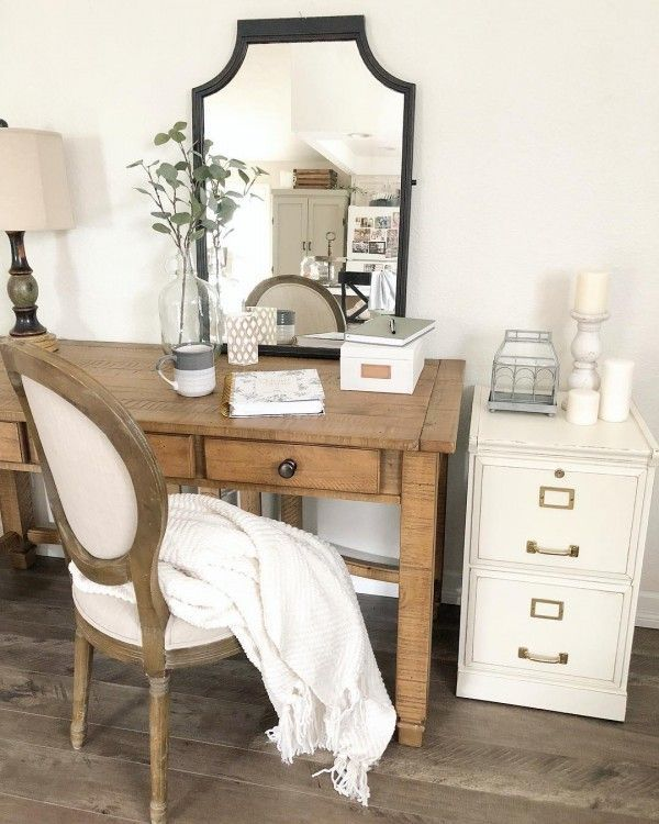 100 Charming Farmhouse Office Decor Ideas for Your Home Home