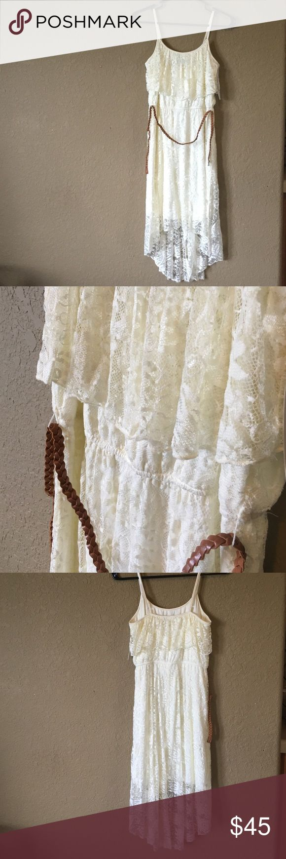 Cream Lace Dress Cream Lace Western Dress w/ belt. NWT! Pet and smoke free home. Size medium. Love Reign Other