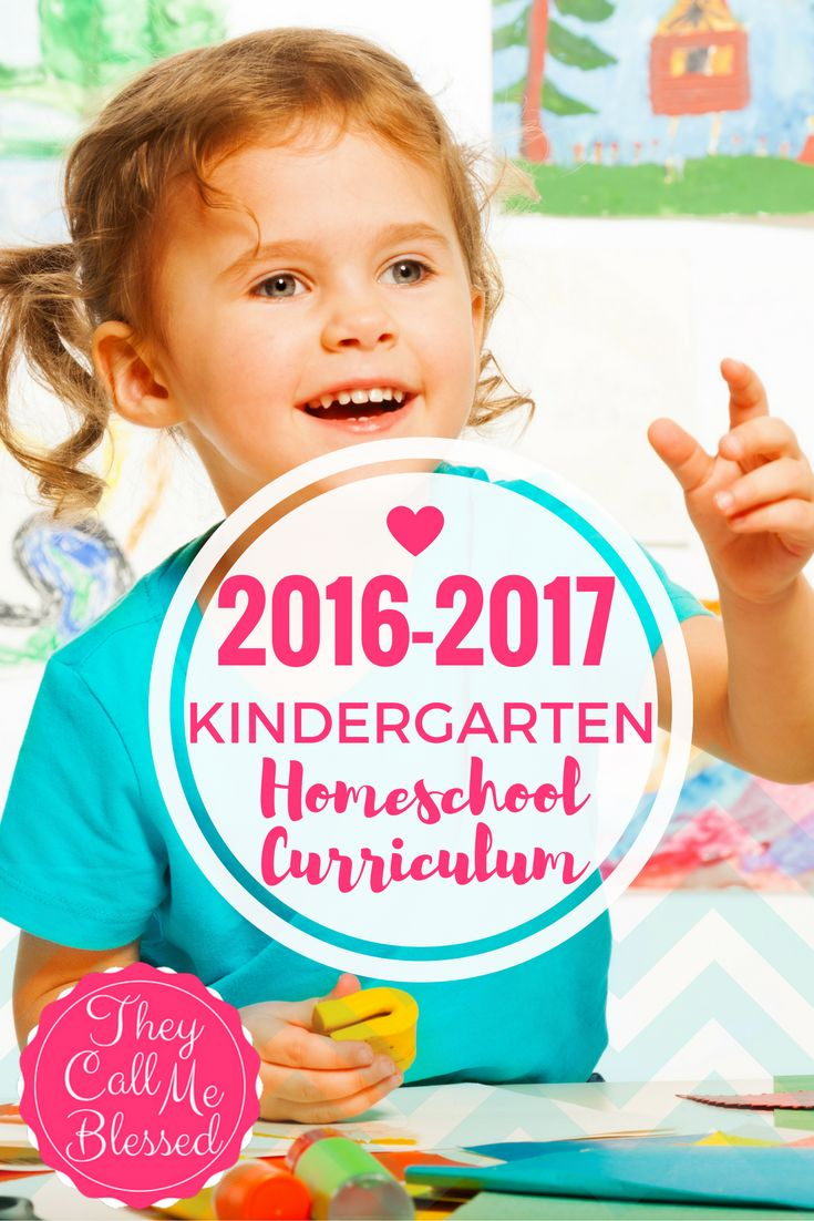 Our 2016-2017 Kindergarten Homeschool Curriculum | They Call Me Blessed A perfect curriculum for our youngest with plenty of living books to snuggle with mommy to read!