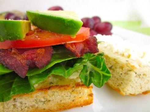 B.L.A.T (Bacon Lettuce Avocado Tomato) Sandwich with Aioli Sauce and Feta. Via the Food Charlatan.