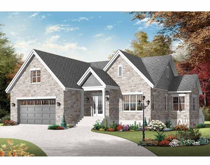European House Plan with 1401 Square Feet and 2 Bedrooms from Dream Home Source | House Plan Code DHSW75565