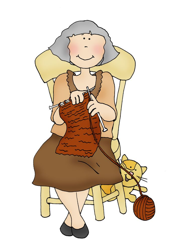 Free Dearie Dolls Digi Stamps: Knitting