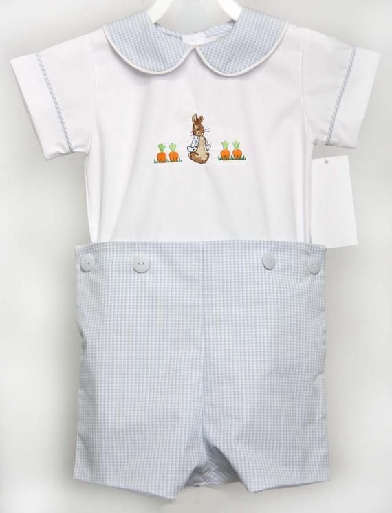 4 Preemie and Newborn Sizes Baby Boy Blue Bunny 4 Piece Clothing Outfit