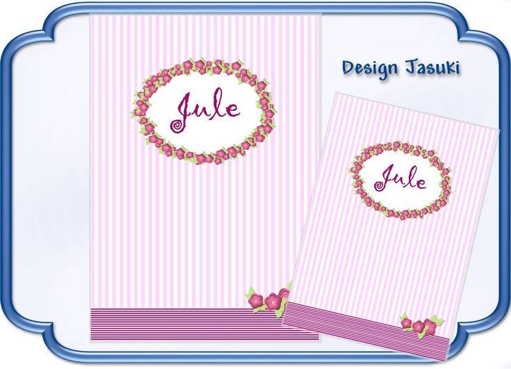 Set U-Heft  u. Impfpass, rosa Streifen Blume von Jasuki auf DaWanda.com