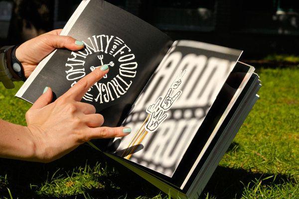 Книга «Шрифт» by Ampersand Creative Agency , via Behance