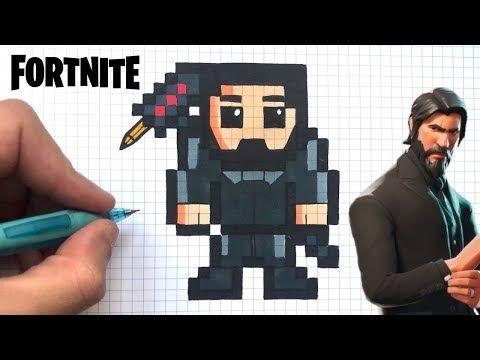 Tuto Pixel Art Graffeur Skin Fortnite