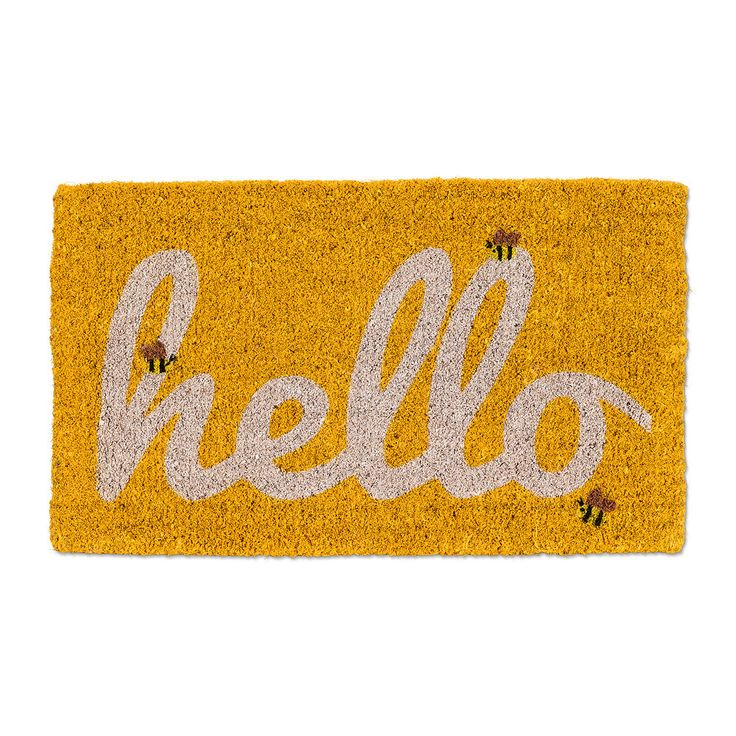 Welcome friends and family to your home with this eye-catching coir mat! To clean simply vacuum or hose down. Perfect for indoors and out.