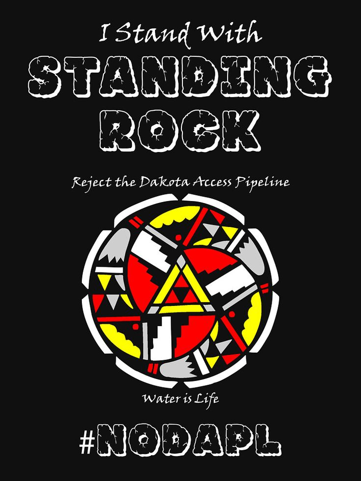 """I Stand With Standing Rock"" by Samuel Sheats on Redbubble. Apparel and merchandise. #standingrock #nodapl #nativeamerican #sioux #protest #activism #waterislife #civilrights"