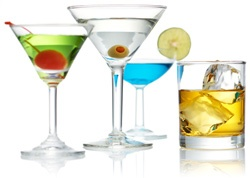 Mixed drinks or cocktails that add to the mirth and merriment of the holidays