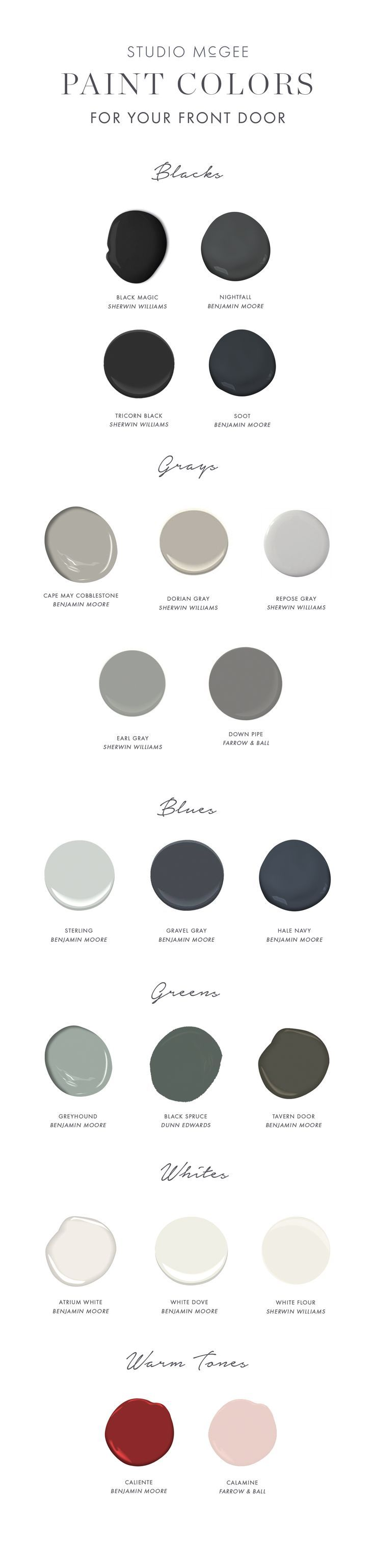 Front door paint guide - Studio McGee Blog