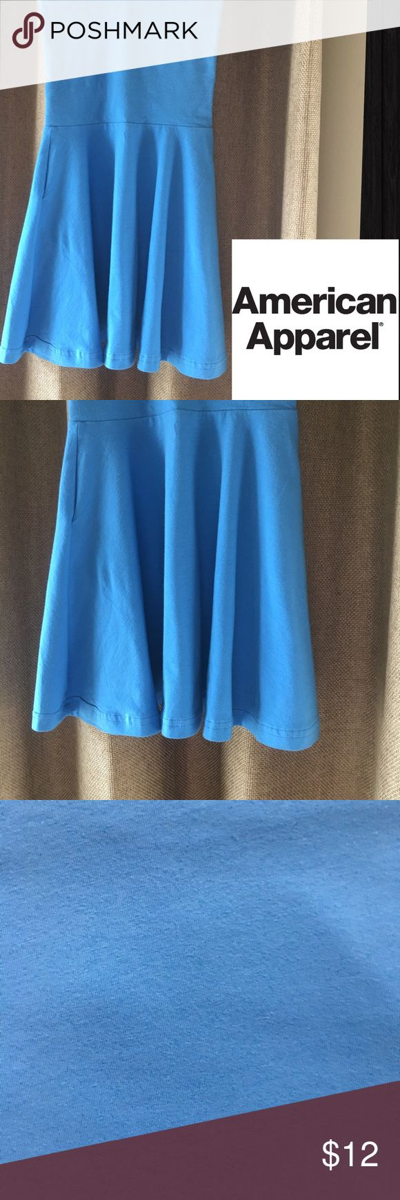 American Apparel Blue Mini Dress or Skirt Sz XS Please refer to my purple dress for description. This is a Sz XS and in color is cornflower blue. American Apparel Dresses Strapless