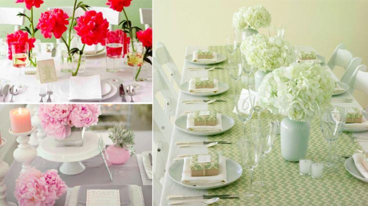 Une cinquantaine d'idées merveilleuses pour décorer votre table avec des fleurs