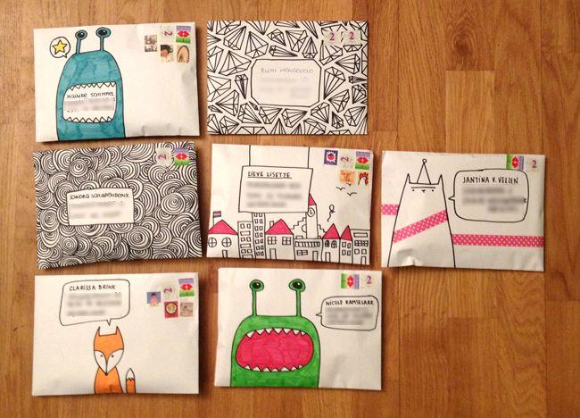 doodled envelopes mail art - Snailmail Magazine