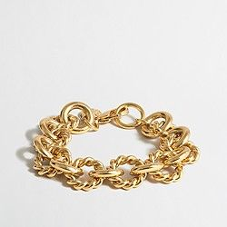 Factory gold-plated chain-link bracelet