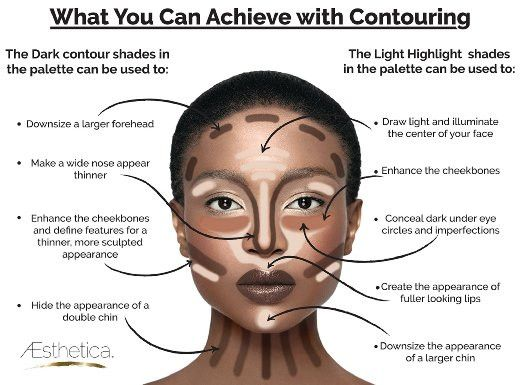 Tan to Dark Powder Contour Kit Pallett & Highlighting Beauty Cosmetic Makeup