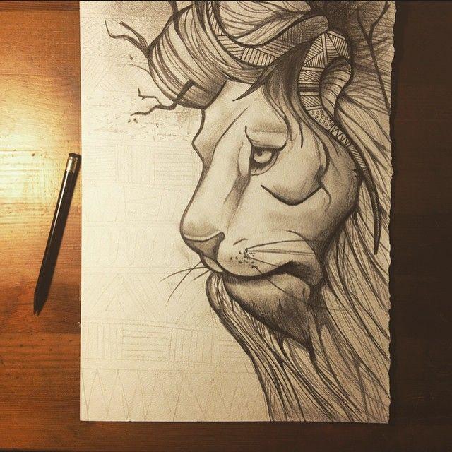 #lion #illustration #tribal #nature #animal #art #pencil #drawing #leone #disegno #arte #chiaroscuro #madrenatura #matita https://www.facebook.com/photo.php?fbid=10205149549450641&set=a.10202246202748788.1073741827.1601934301&type=1&theater