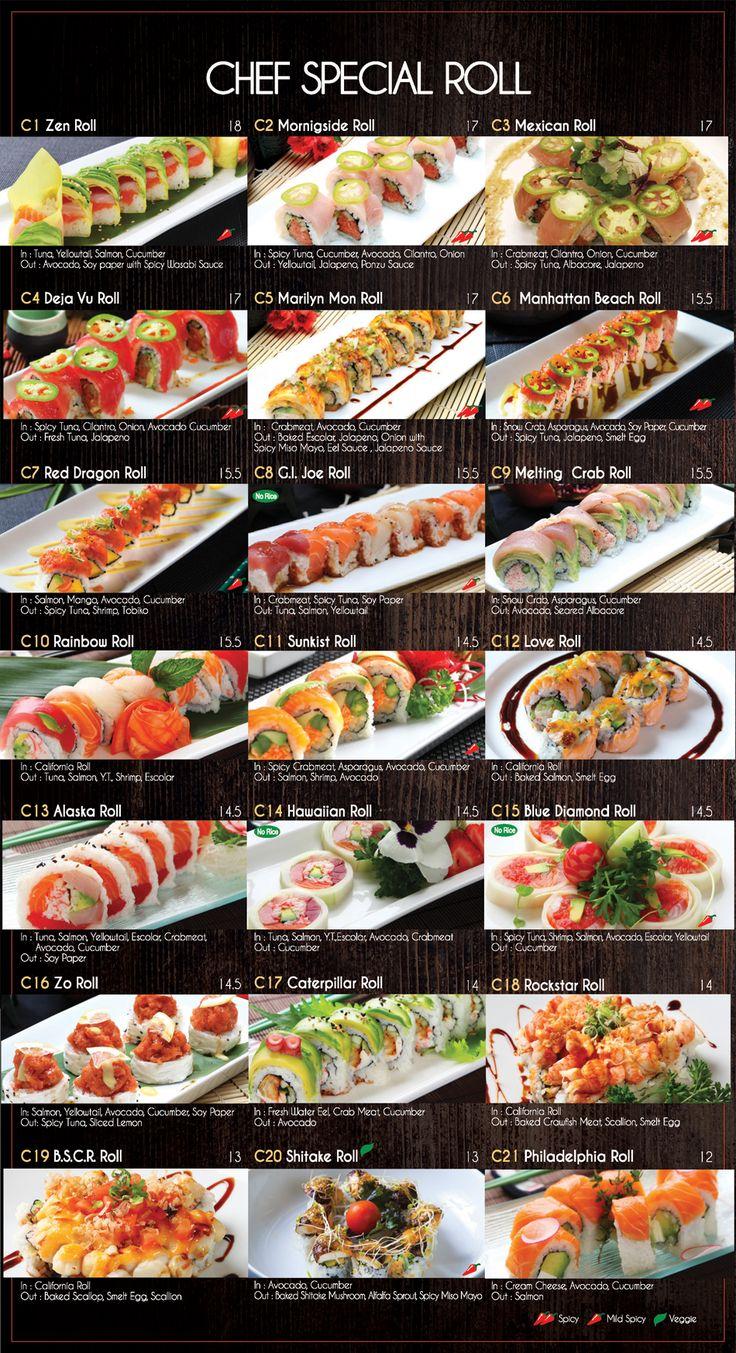 Menu - Fusion Sushi Japanese Restaurant | Manhattan Beach and Long Beach in California