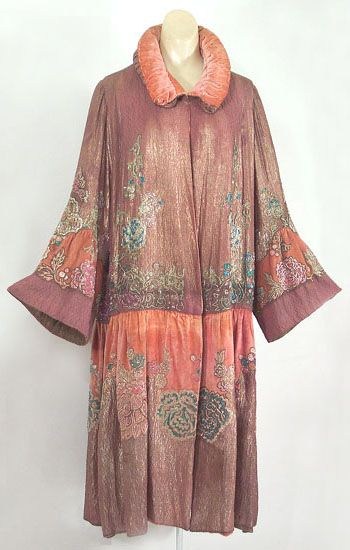 Agnes/Mme Havet beaded velvet evening coat, c.1925, from the Vintage Textile archives.