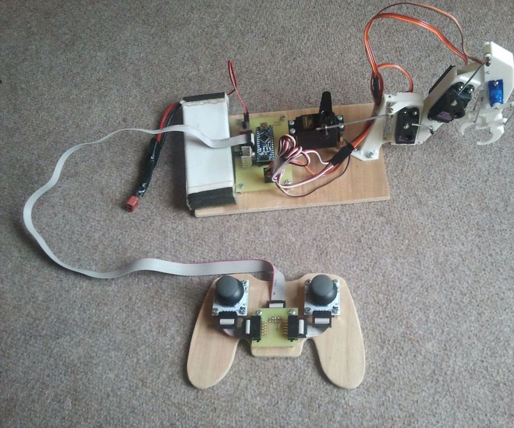 I have bought 2 joysticks from ebay and tried to think what can I do. Then I came up with idea to make a small robot arm. What I needed ...