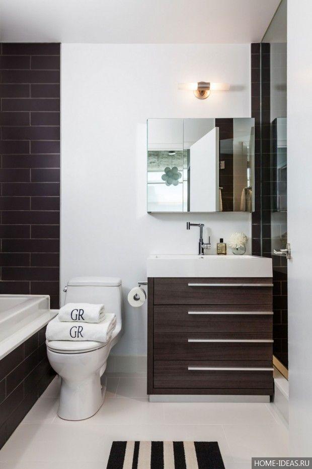 10 лучших идей оформления интерьера маленькой ванной комнаты, фото интерьера маленькой ванной комнаты