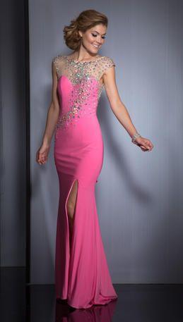 sparkly pink dress Clarisse 2541