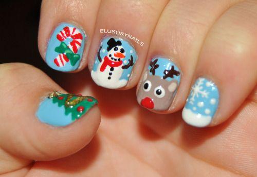 Мой Рождественский дизайн ногтей. Я выложу правой руки если у меня есть время, чтобы закончить его. С Рождеством!