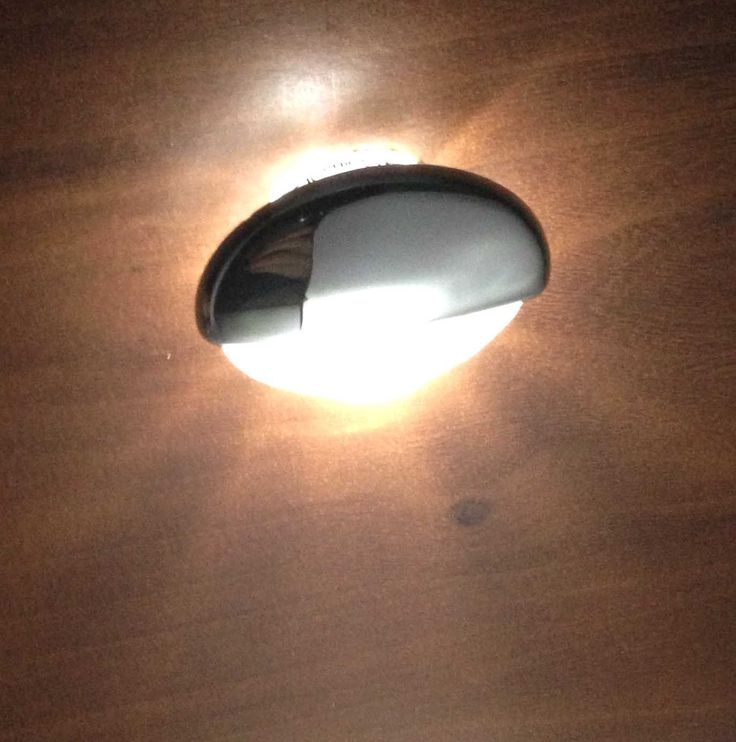 MARINE BOAT RV LED MOUNT ROUND COURTESY LIGHT OEM RECESSED MOUNT CHROME PLATED