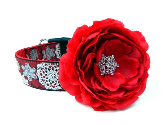 Hey, I found this really awesome Etsy listing at http://www.etsy.com/listing/108263907/dog-collar-flower-add-on-red-christmas