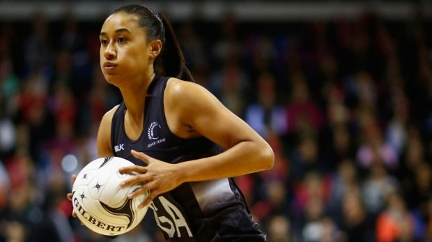 Silver Ferns goal attack Maria Tutaia drives the ball through court, during Tuesday's win over South Africa.