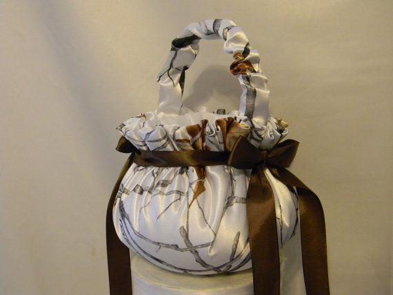 @Meagan Smith Flower Girl Basket Camo custom made to by MYBEAUTIFULWEDDINGS, $30.00