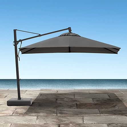 Cantilever 10u0027 X 13u0027 Outdoor Umbrella In Canvas Coal