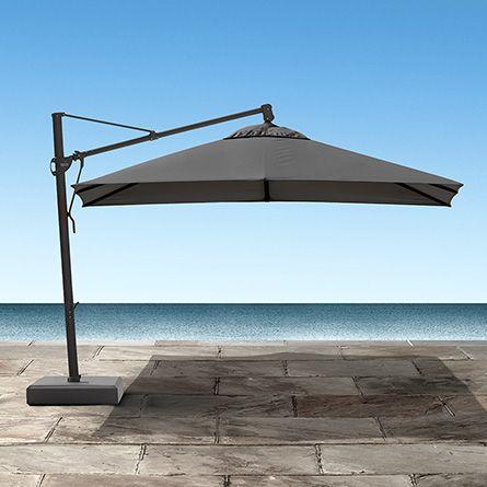 """Cantilever 13"""" Outdoor Umbrella in Canvas Coal"""