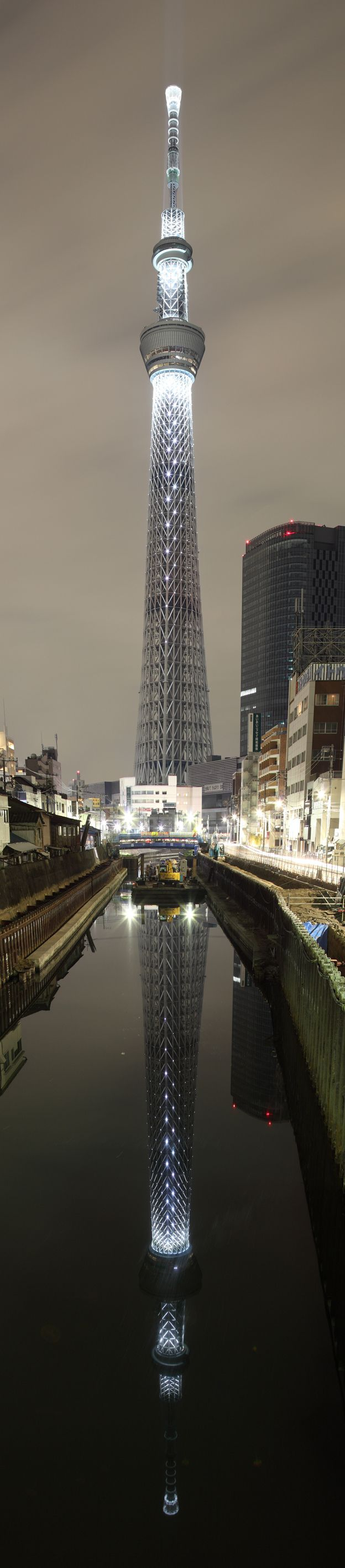 Skytree, Tokyo - the seismic-proofed tower is the second tallest structure in the world, after Burj Khalifa.
