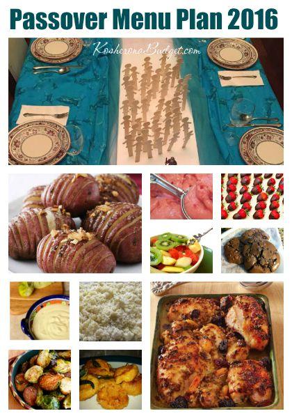 Pesach Meal Plan 2016