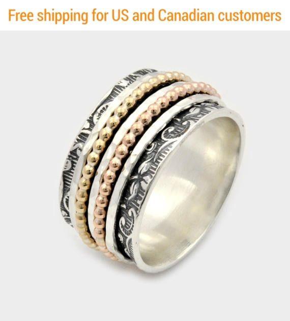 Nuevas preocupaciones del anillo girar anillo de plata