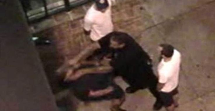 According to 7 News Denver,  The report indicated that Johnson falsely portrayed the bar patron as taking a fighting stance toward the officer, when a surveillance video showed the man was standing with his hands in his pockets as the 260-pound officer violently shoved him backward down some stairs.  Read more at http://thefreethoughtproject.com/video-cop-shoves-innocent-man-hands-pockets-stairs-lies-it-job/#MK2d8LsyCPZWURYC.99