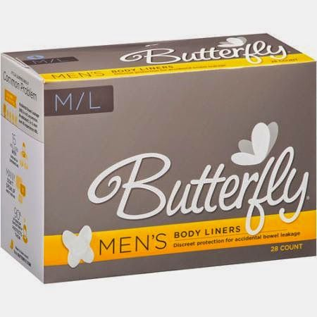 Men's Butterfly Pads for Accidental Bowel Leakage #ABL #accidentalbowelleakage #fecalincontinence