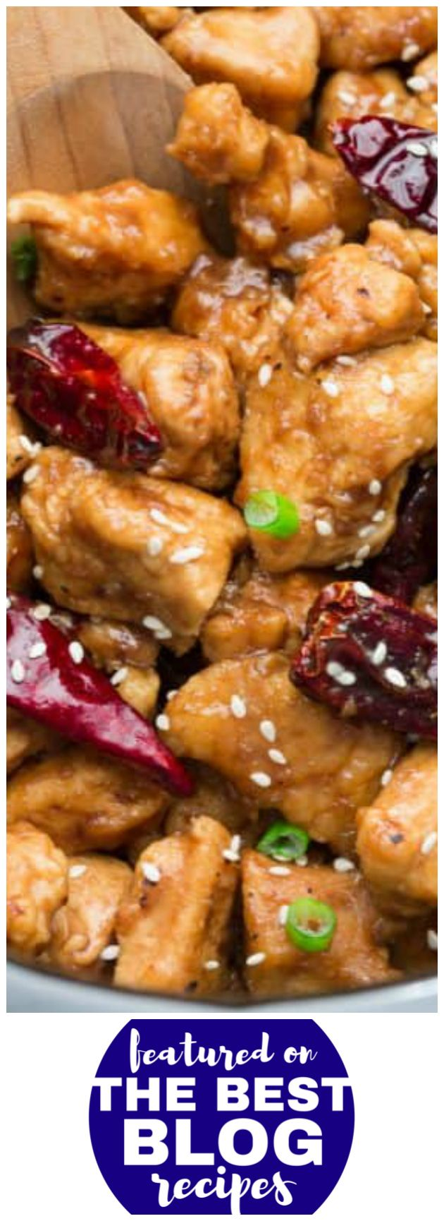 SLOW COOKER GENERAL TSO'S CHICKEN from Life Made Sweeter is #5 on our list of the BEST INSTANT POT RECIPES    Featured on The Best Blog Recipes with the bloggers permissions #instantpot #dinner #chinese #food